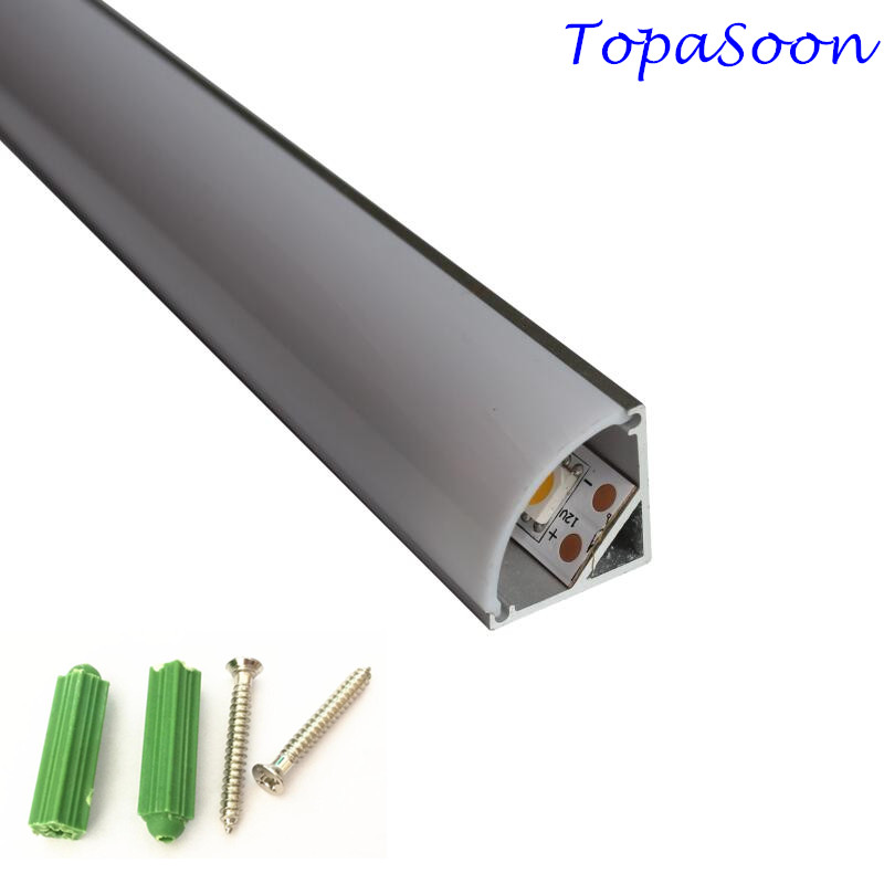 10PCS 1m length aluminium led profile corner profile excellent quality aluminum channel housing Item No.LA-LP12A free shipping free shipping 10pcs n channel fet lr3410 irlr3410 17a 100v