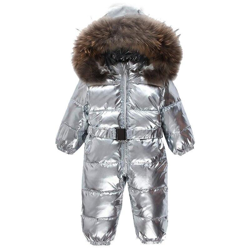Nouveau-né bébé Onesie canard bas combinaison bébé salopette bébé hiver neige combinaisons garçons fille fourrure barboteuse tenues en plein air une pièce