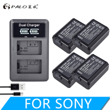 4 Pcs NP-FW50 NP FW50 battery + LCD dual USB charger for Sony A6000 5100 a3000 a35 A55 a7s II Alpha 55 7 A72 A7R Nex7