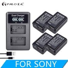лучшая цена 4 Pcs NP-FW50 NP FW50 FW50 battery + LCD dual USB charger for Sony A6000 5100 a3000 a35 A55 a7s II Alpha 55 Alpha 7 A72 A7R Nex7