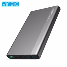 VINSIC 2000MAH Type-C Dual USB Ports External Power Bank High Strength Shell Battery Charger Power Supply for Smartphones