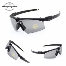 2019 New Military Goggles Bullet-proof Tactical Glasses Army Sunglasses 3lens Men Shooting Eyewear Outdoor Hiking Glasses(China)