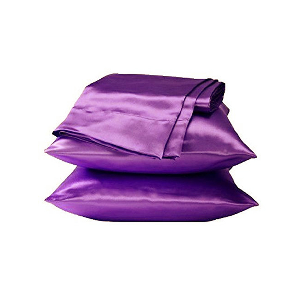 1 Pc 50X76CM Soft Silky Satin Pillowcase Queen Size Solid