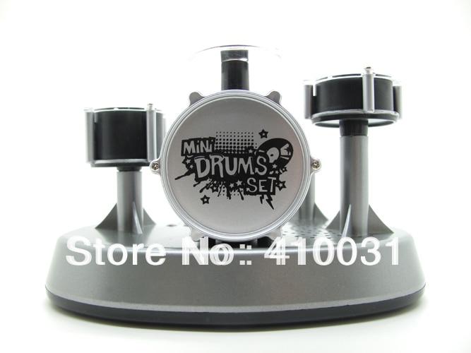 Mini Finger Drum Set Novelty Desk Musical Toy Touch Drumming Led
