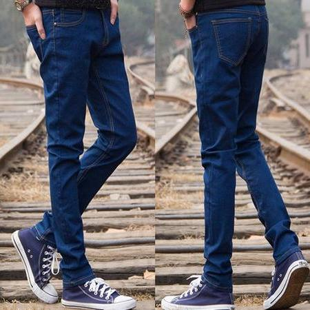 Autumn boys teenage jeans slim skinny pants men s clothing male casual trousers