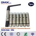 Бесплатная Доставка DHL wireless dmx приемник беспроводной передачи сигнала привело движущихся головного света wireles комплект