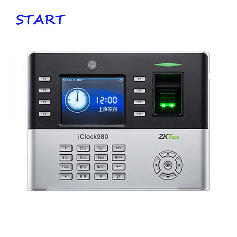 ZK IClock980 Biometric Fingerprint Time Attendance System And Access Control With Camera Fingerprint Time Recorder