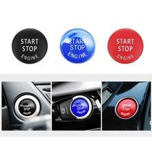 Auto Motor Start Taste Ersetzen Abdeckung Stop Schalter Zubehör Schlüssel Decor für BMW X1 X5 E70 X6 E71 Z4 E89 3 5 serie E90 E91 E60