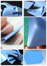 Silicone rubber cooling conductive insulation thermal pad for electronic component