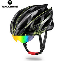 ROCKBROS Cycling Bike Helmet Ultralight MTB Bicycle Motorbike Helmet Men Women 3 Lens Integrally-molded EPS Bicycle Accessories