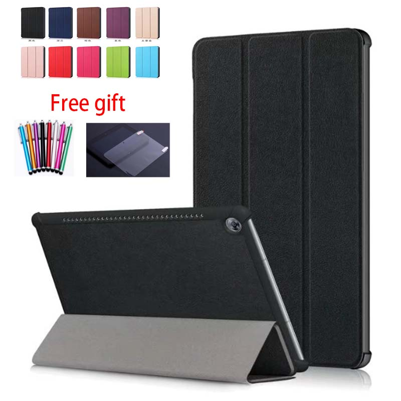 Slim Magnetic PU Leather Cover Case for Huawei MediaPad M5 Pro 10.8 Tablet Cover M5 10 10.8 inch CMR-AL09 CMR-W09 Case+film+pen cover case for kobo aura one 7 8 inch ebook reader magnetic pu leather case screen protector film stylus pen