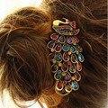 2016 новый заколки ретро стразы кристалл павлин с кристаллами заколки для женщин клипы с кристалл  заколки для волос горный хрусталь  заколки большие  шпильки для волос со стразами цветочками