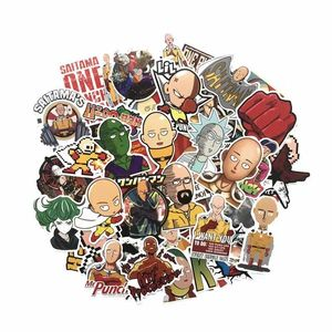 Image 4 - TD ZW 50 Pcs/lot Japanese Anime ONE PUNCH MAN Stickers For Car Laptop Phone Skateboard Motorcycle Bicycle Cartoon Sticker