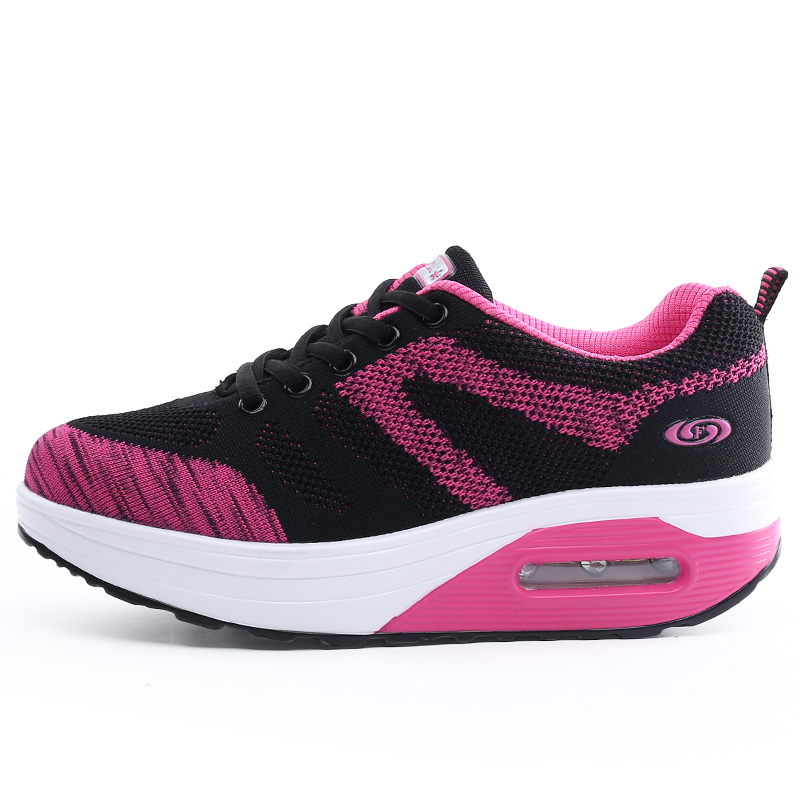 ФОТО 2017 New Brand Summer breathable casual shake woman shoes high quality Flying casual shoes for women zapatillas deportivas mujer