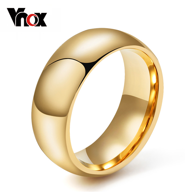 Vnox 100% Tungsten Ring for Men 8mm Wedding Classic Jewelry Smooth Hand Polishing US 6 7 8 9 10 11 12 13