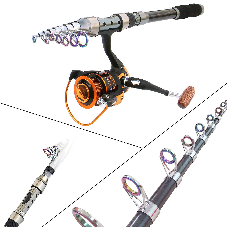 Vara de pesca combo com acessórios de