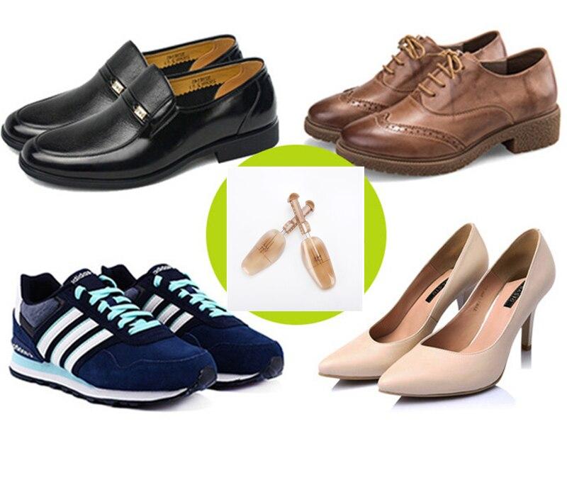 Caliente 1 par de estiramiento ajustable de plástico/soporte de bota hombres y mujeres evitará que los zapatos de desformato de arrugas de los árboles