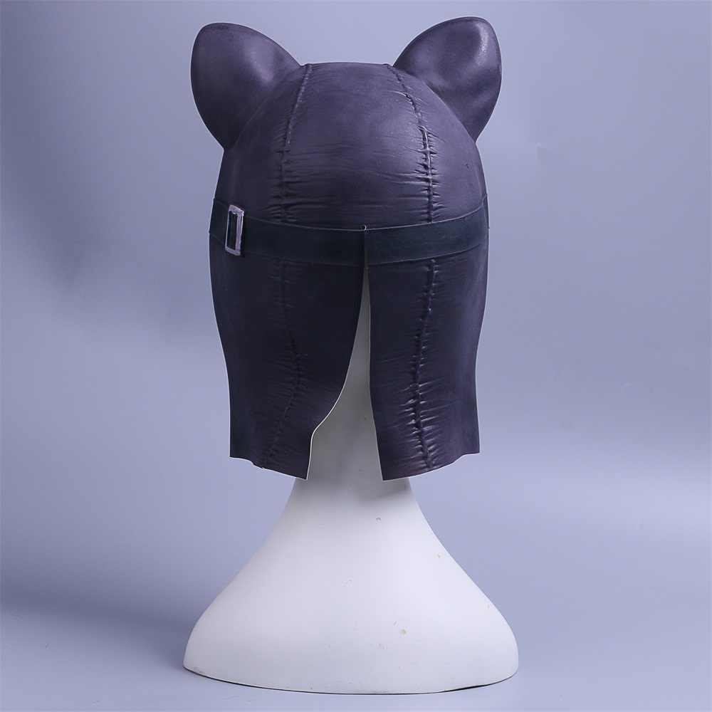 Косплей маска женщина кошка черная латексная маска «кошка» кошка женщина Бэтмен Хэллоуин маска Опора