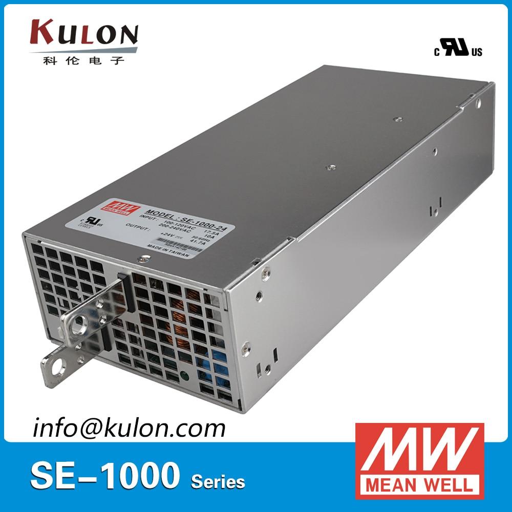 Original Mean Well 1000W 12V Power Supply SE-1000-12 AC to DC 12V transformer switch mode Power Unit original meanwell 12v 37 5a 450w se 450 12 switching power supply ac to dc 12v transformer 2 years warranty