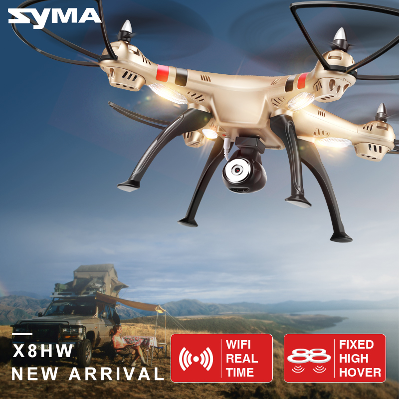 SYMA X8HW RC Drone With Camera Wifi Real Time FPV Quadcopter Helicopter Headless Mode Drones Aircraft Dron Rotating High Hover image