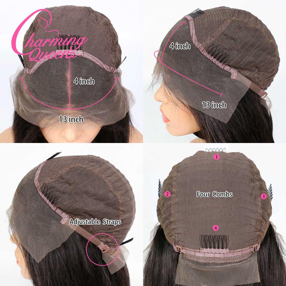 Pelucas cortas onduladas de la Reina encantadora 13*4 pelucas del pelo humano del frente del cordón para las mujeres negras Pre desplumado peruano pelucas de cabello Remy cabello de bebé