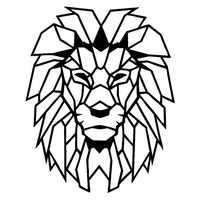 Геометрические предметы, животные, наклейки на стену, домашний декор, гостиная, голова льва, художественная наклейка, фреска, детская комнат...