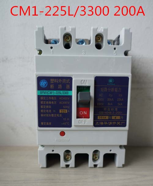 Molded case circuit breaker /MCCB/ air switch CM1-225L/3300 200A 3P variety of current optional cm1 400 3300 mccb 200a 250a 315a 350a 400a molded case circuit breaker cm1 400 moulded case circuit breaker