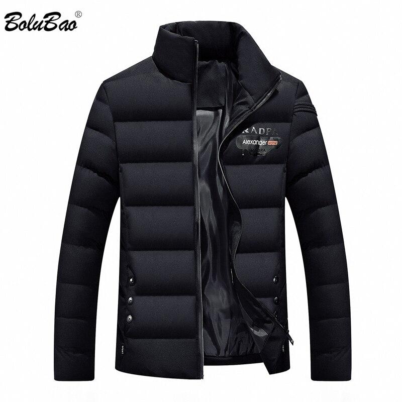 BOLUBAO männer Winter Jacken Einfarbig Oberbekleidung Winter Mode Gepolsterte Baumwolle Mantel Ultraleicht Casual Mann Parka Mäntel