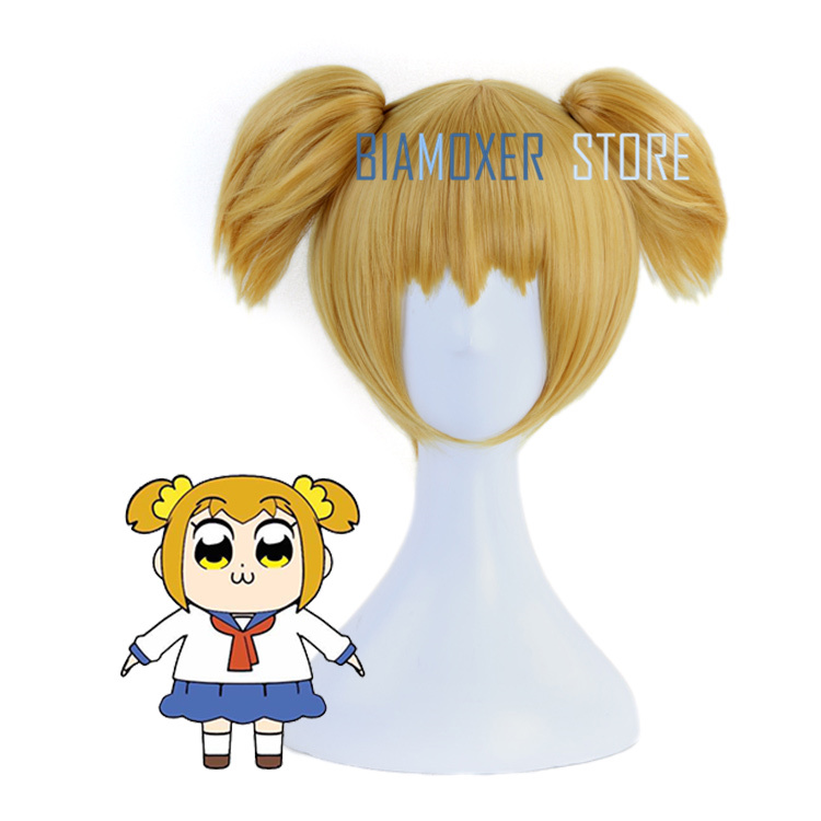 Poputepipikku POP TEAM EPIC Popuko Pipimi Anime Cosplay Hair Wig+Free wig cap