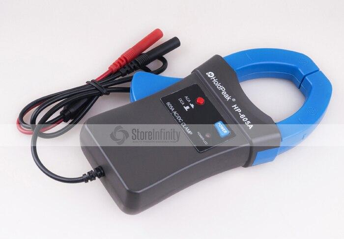 Holdpeak HP-605A Clamp adaptador 600A AC/DC corriente LED 45mm mandíbula calibre HoldPeak multímetro pinza Digital para HP-890N