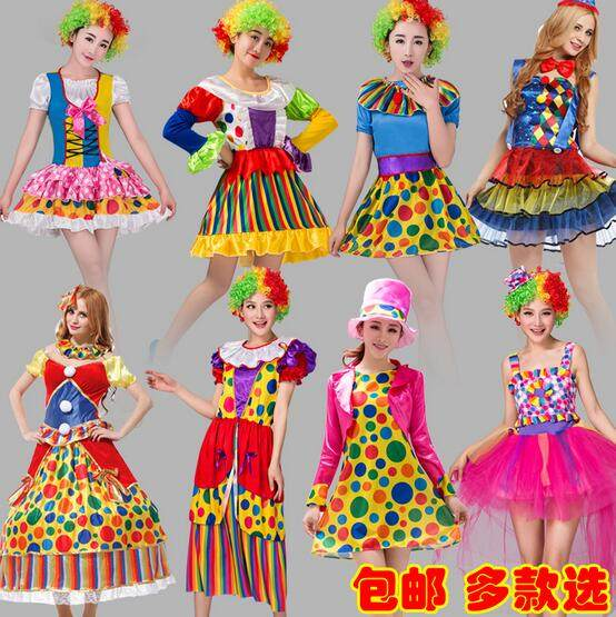 Halloween clown costumes for Woman clown suit clown costumes funny costumes adults halloween couple costumes joker Clown props  sc 1 st  Aliexpress & Online Shop Halloween clown costumes for Woman clown suit clown ...