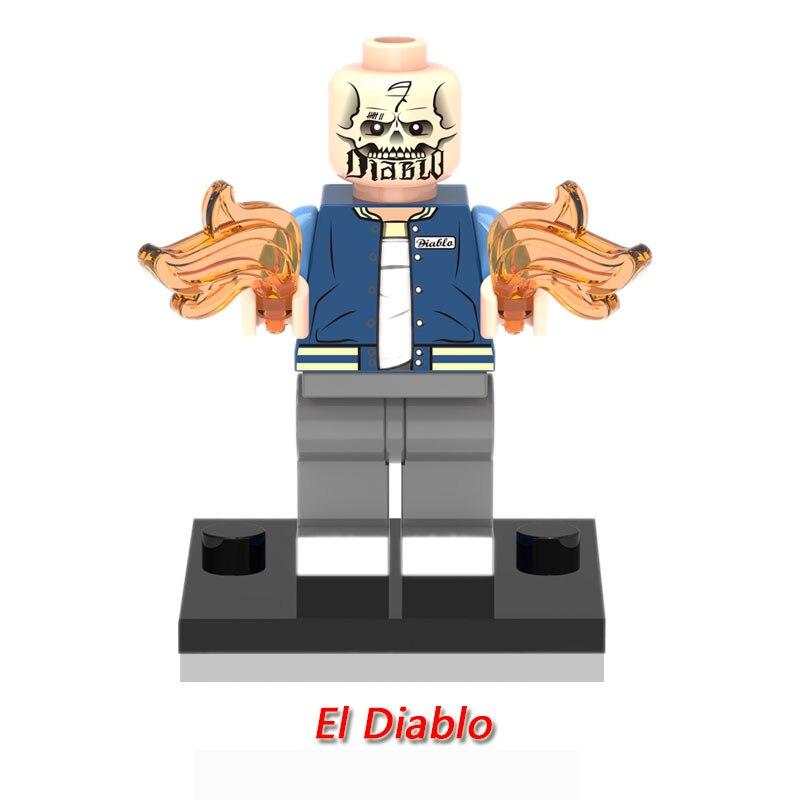 XH317 ElDiablo Single Sale figures Suicide Squad DC Super Heroes Building Blocks Models Building Toys For