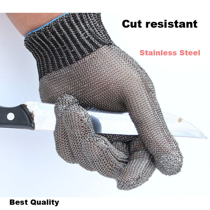 ФОТО Cut Proof work gloves Safety Stab Resistant Stainless Steel Wire Gloves Metal Mesh Labor Protection Gloves Anti-cutting