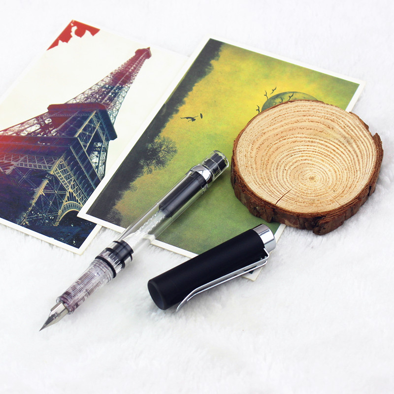 Portable WING SUNG 3008 Pen 9 Color Pick Transparent Fountain Pen 0.5mm