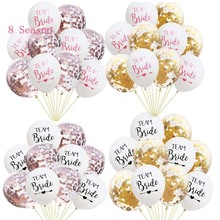 8Season 10pc Bachelorette Party Team Bride To Be Latex Balloon tattoo Hen Night Golden Bridal Shower wedding supplies