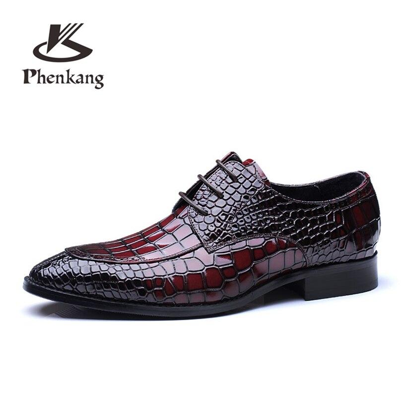 Для мужчин квартиры Бизнес Качество кожаные туфли Для мужчин s вино красный синий на шнуровке Большие размеры us11 платье Свадебная вечеринка...