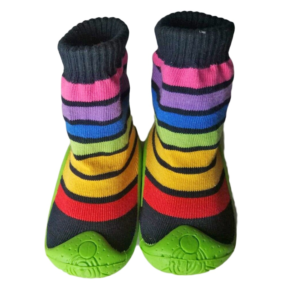 Baby Soft Rubber Bottom Anti-slip Floor Socks Boots Toddler Baby Shoes Kids Indoor Slipper Shoe YD589