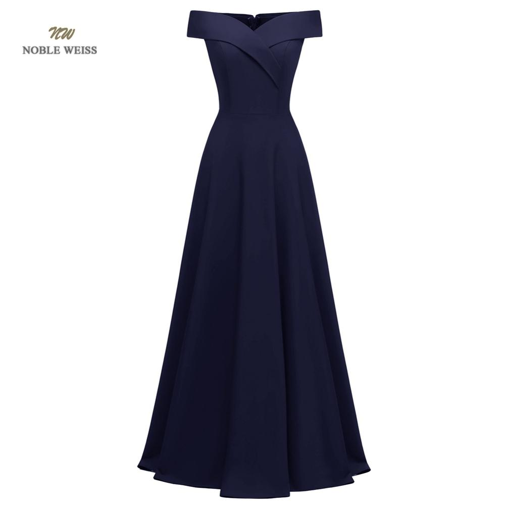 prom     dresses   boat neck black satin vestidos de festa floor-length   prom   gown in stock a-line party   dresses