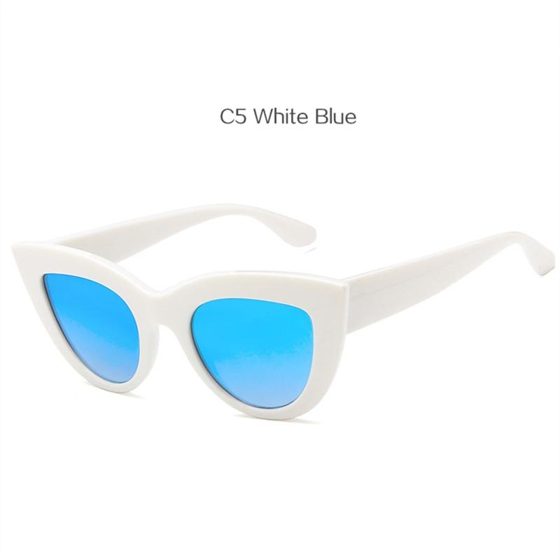 08d09ad83e Dropwow UVLAIK Vintage Cat Eye Sunglasses Women Big Round Sun ...