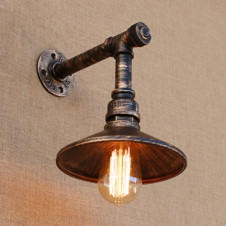 Loft Style Iron Water Pipe Lamp Edison Wall Sconce Retro Wall Light Fixtures Indoor Vintage Industrial LightingLoft Style Iron Water Pipe Lamp Edison Wall Sconce Retro Wall Light Fixtures Indoor Vintage Industrial Lighting