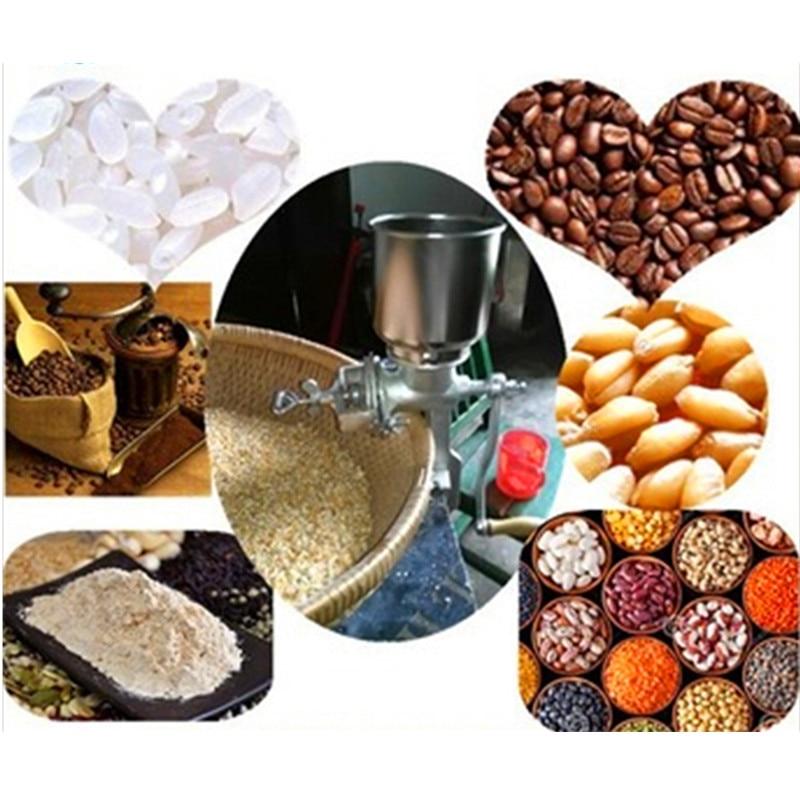 Купить с кэшбэком Multifunction corn flour mill machine home use manual maize rice soybean peanut coffee cocoa beans grain grinder