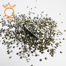 цена на SS3-SS30 Gold Mine 288-1440Pcs Nail Decorations Diy Decoration Flatback with non-hotfix Decorative Stones