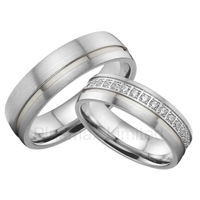 Anneaux globaux de bande de mariage de cz d'acier inoxydable de fournisseurs de bijoux de titane d'oem/ODM