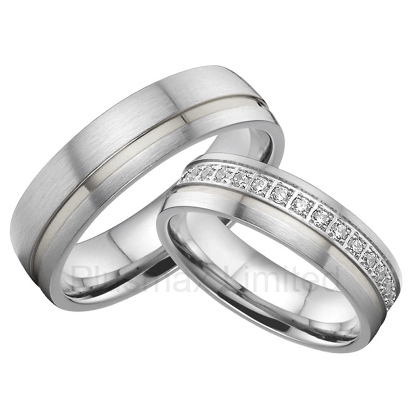 OEM/ODM Global titanium jewelry Suppliers stainless steel cz wedding band rings цена