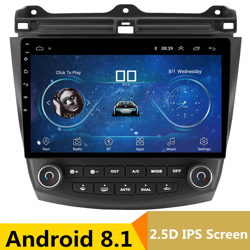 10 2.5D IPS Android 8,1 DVD мультимедиа плеер gps для Honda Accord 7 2003-2007 2004 2005 2006 аудио стерео радио навигации