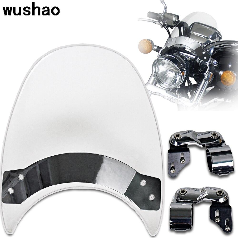 1x Motorcycle Screen Windscreen For Harley Windshield Sportster 1200 XL 883 XL883N Iron Nightster XL1200N Low XL1200L Wind Glass