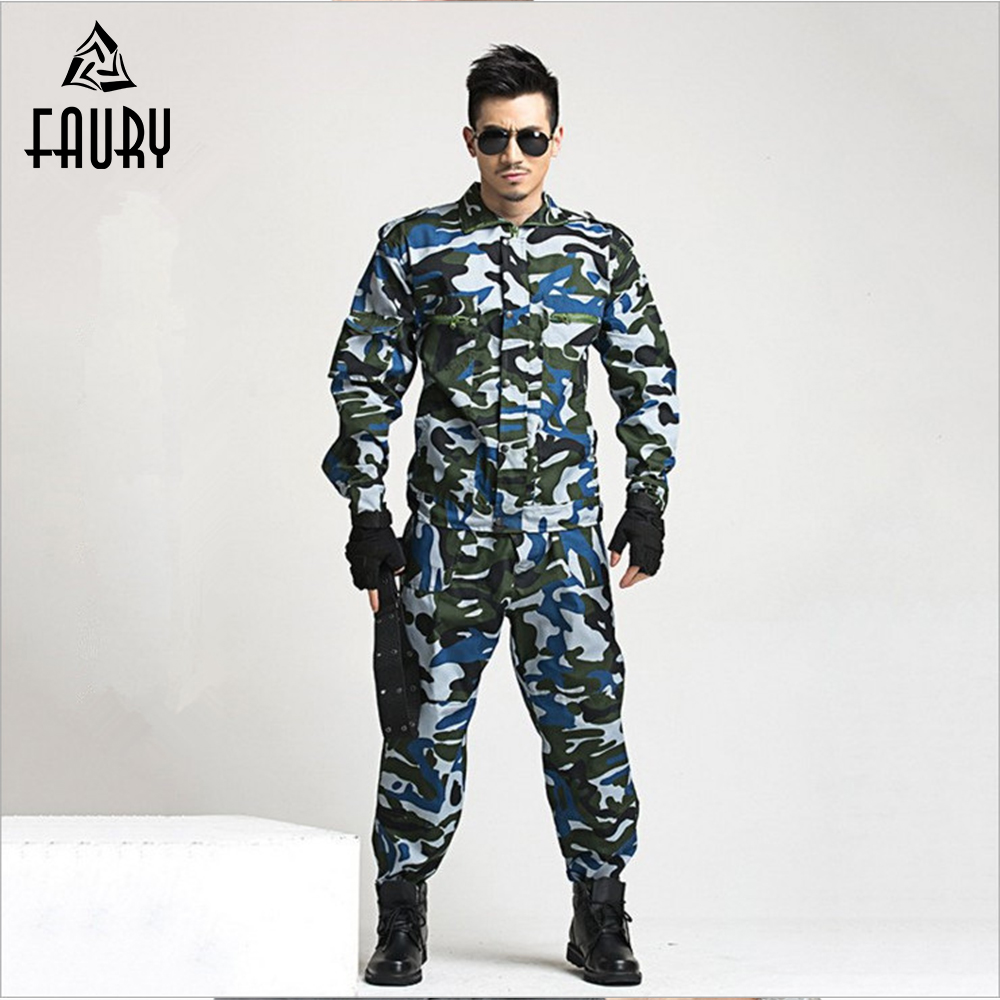 2018 High Quality Military Uniforms Men Womens Adults Students Military Outdoor Training Camouflage Uniforms Two-Piece Sets