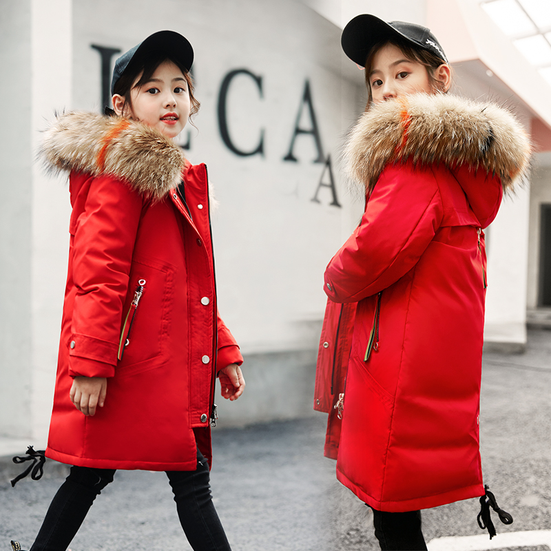 a691b5940 -Chaqueta de invierno de Rusia de 30 grados para niños niñas traje de nieve ropa  de niños de Año Nuevo Parka chaquetas abrigo abajo traje de esquí 4-16 T
