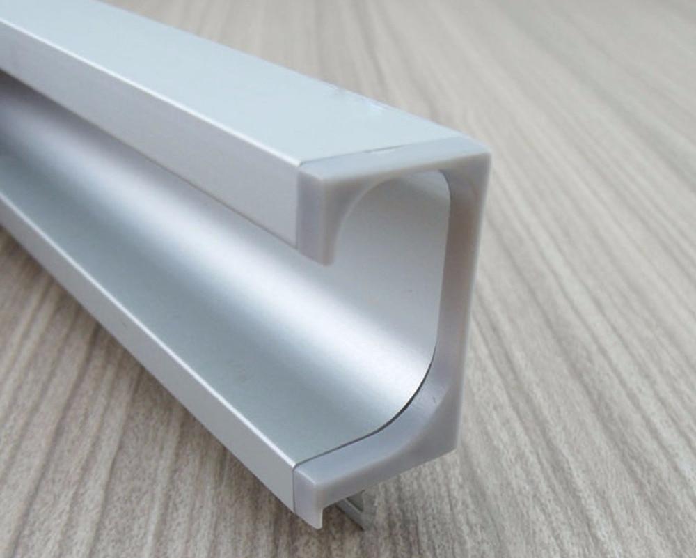 4 Pcs/Lot (43 CMLong/pièce) profilé en aluminium G tirer avec couvercle en plastique intégré poignée intégrée porte d'armoire de placard