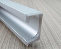 4Pcs/Lot (43CMLong/Piece) Aluminum Profile G Pull With Plastic Cover Built in Integral Handle Cupboard Cabinet Door